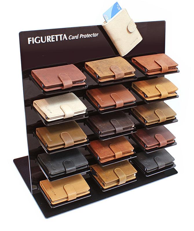 Display C voor presentataie van 15 Figuretta cardprotectors