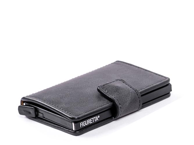 Stijlvol, super compact en bijzonder overzichtelijk: de Figuretta cardprotector is een handige en bovenal veilige portemonnee.