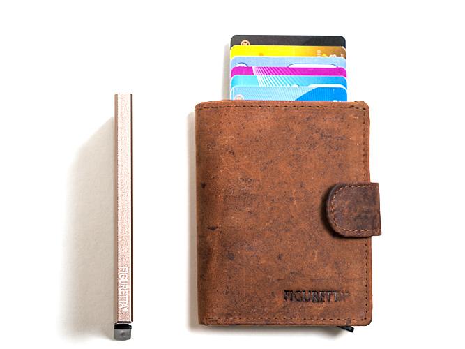 De De Figuretta pasjeshouder is de veiligste portemonnee. De cardprotector beschermt u tegen diefstal van privacy-gevoelige data op pasjes en creditcards.